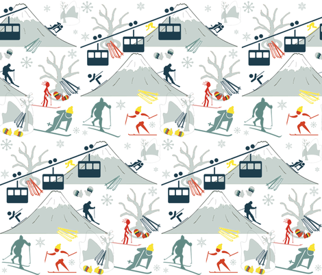 SKI LIFTS fabric by bluevelvet on Spoonflower - custom fabric