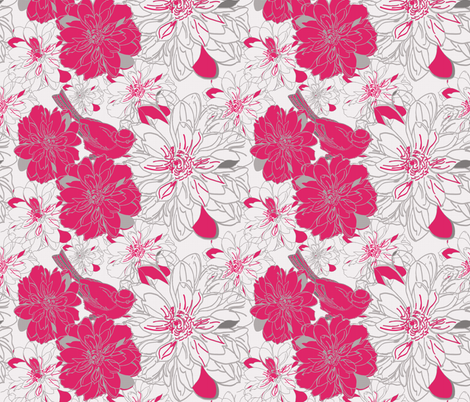 in bloom pink fabric by leeandallandesign on Spoonflower - custom fabric