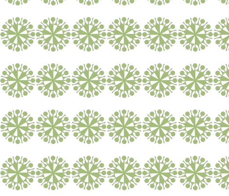 Garden Delight companion fabric fabric by whimzwhirled on Spoonflower - custom fabric