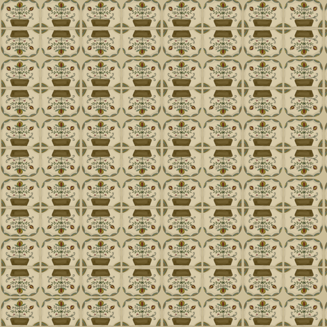 colonial_floral_gathering fabric by robin006 on Spoonflower - custom fabric