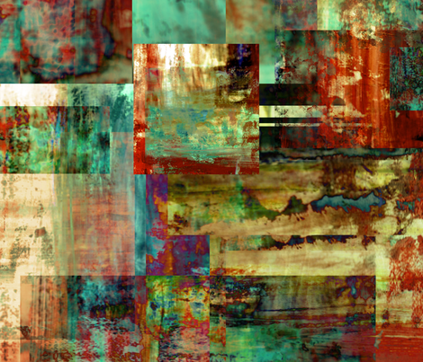 Aqua Dream fabric by feebeedee on Spoonflower - custom fabric