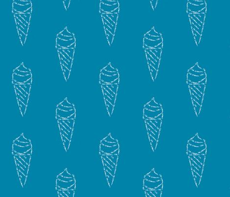 icecream calligram fabric by blue_jacaranda on Spoonflower - custom fabric