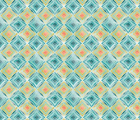 Garden Diamond Geometric fabric by cjldesigns on Spoonflower - custom fabric