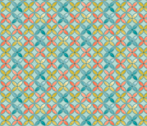 Garden Geometric 4 large fabric by cjldesigns on Spoonflower - custom fabric