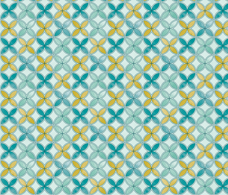 Garden Geometric 3 large fabric by cjldesigns on Spoonflower - custom fabric