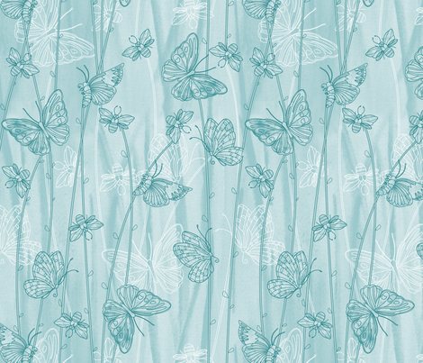 Butterfly grass fabric by cjldesigns on Spoonflower - custom fabric