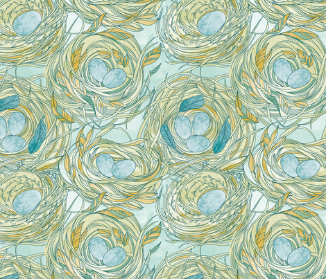 Nesting fabric by cjldesigns on Spoonflower - custom fabric