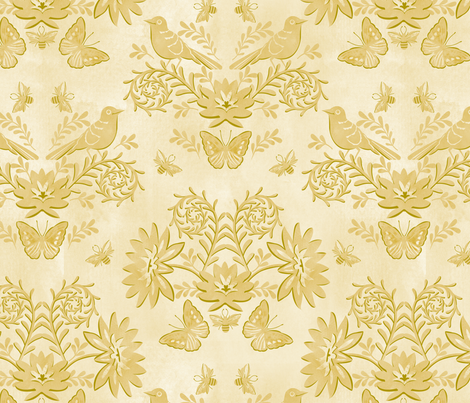 Garden tonal damask fabric by cjldesigns on Spoonflower - custom fabric