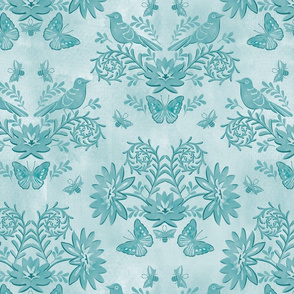 tonal damask blue