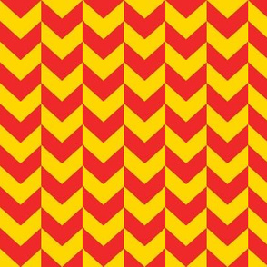 Red and yellow arrow heads.