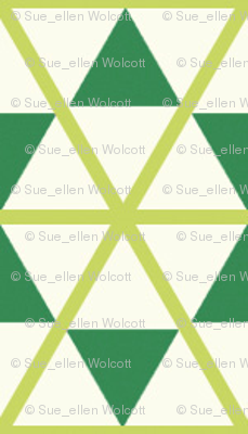 trangle_net_with stars   x-sm   -moss-emerald-cream