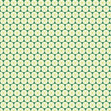 trangle_net_with stars   x-sm   -moss-emerald-cream fabric by fireflower on Spoonflower - custom fabric