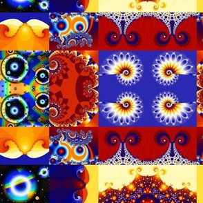 Cheerful Fractal Cheater Quilt