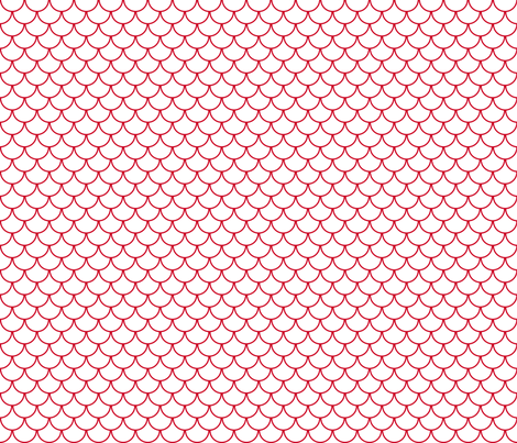 red scales fabric by amybethunephotography on Spoonflower - custom fabric