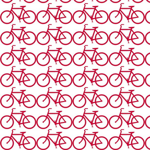 bicycle symbol red ride on white