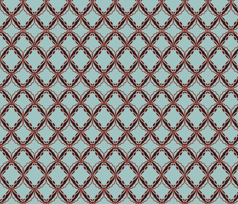 lacey blue and red fabric by luluhoo on Spoonflower - custom fabric