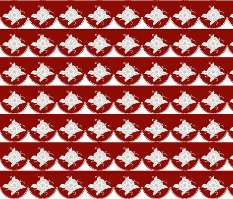 red flower curtain  fabric by luluhoo on Spoonflower - custom fabric