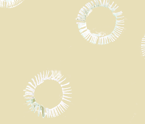 cestlaviv_rings on wheat fabric by cest_la_viv on Spoonflower - custom fabric