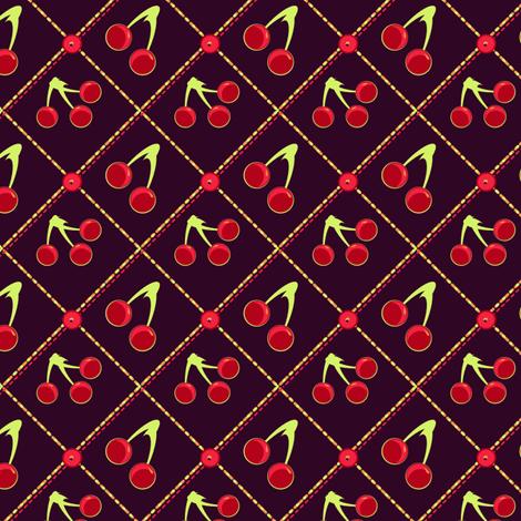 Dark Cherries fabric by eppiepeppercorn on Spoonflower - custom fabric