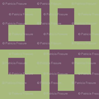 Pistachio and Purple Check