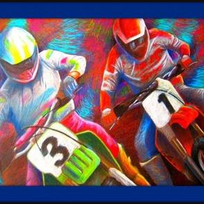 80's Motocross Race