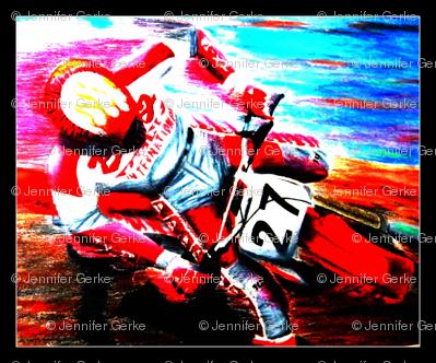 Dirt Bike Motocross Tile