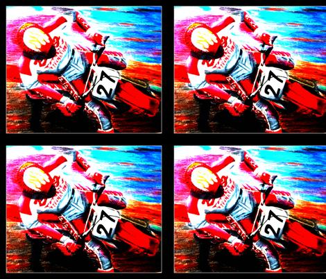 Dirt Bike Motocross Tile fabric by art_by_jennifer_gerke on Spoonflower - custom fabric