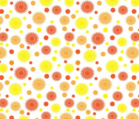 sunny day fabric by suziedesign on Spoonflower - custom fabric