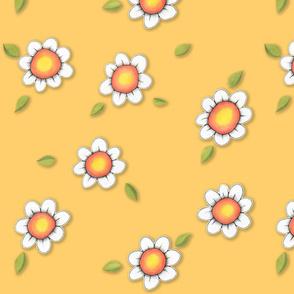 Daisy Joy on Yellow