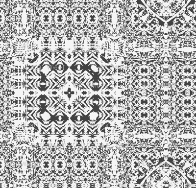 Black and white lace tiles
