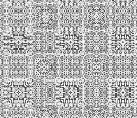 Black and white lace tiles fabric by wren_leyland on Spoonflower - custom fabric