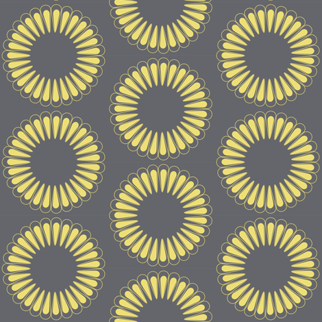 8 inch Sunflower  fabric by vo_aka_virginiao on Spoonflower - custom fabric