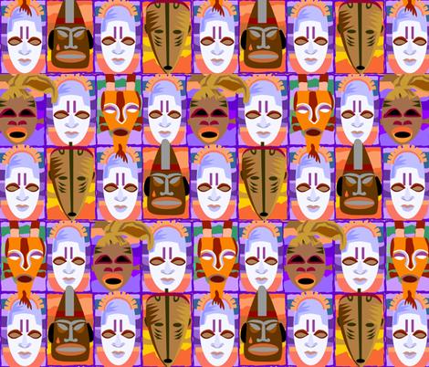 masks fabric by bluevelvet on Spoonflower - custom fabric