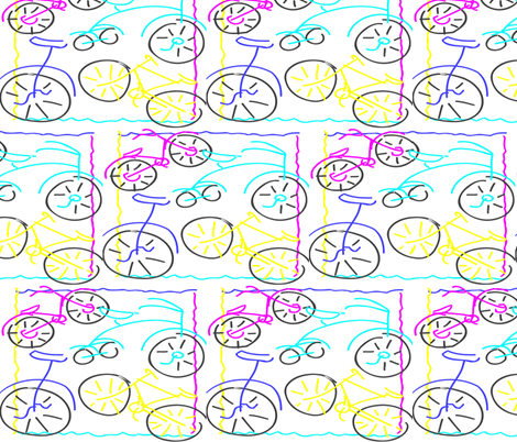 bicycles fabric by bluevelvet on Spoonflower - custom fabric