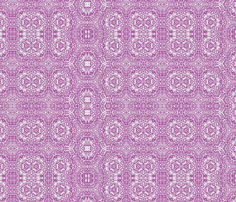 Violet Wisteria Lace  fabric by wren_leyland on Spoonflower - custom fabric