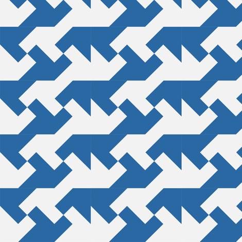 Blue fabric by guapa on Spoonflower - custom fabric