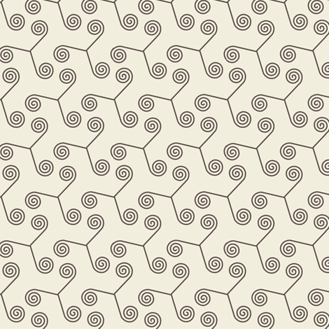 Inspiral Cream fabric by guapa on Spoonflower - custom fabric