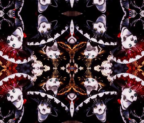 DAY OF THE DEAD CELEBRATION fabric by bluevelvet on Spoonflower - custom fabric