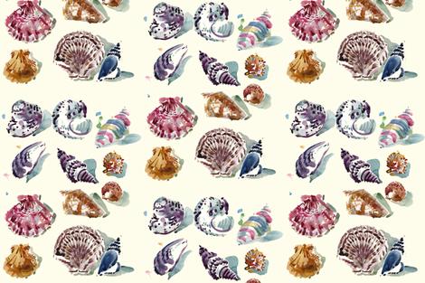 cestlaviv_shells day fabric by cest_la_viv on Spoonflower - custom fabric