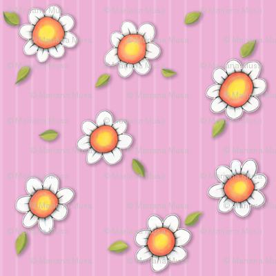 Daisy Joy on Pink Stripes