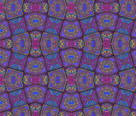 Filagree Tile Dimension Diamonds fabric by joonmoon on Spoonflower - custom fabric