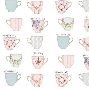 Shabby Tea cups