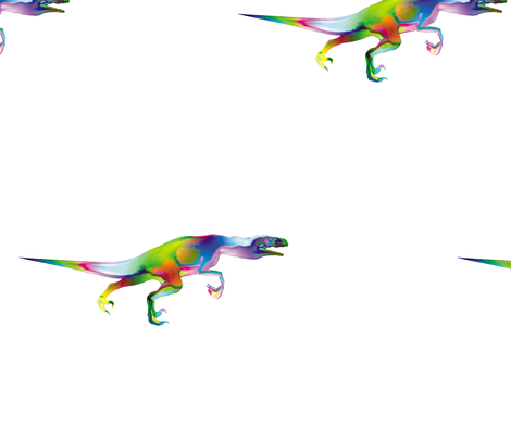 Psychedelic Raptor, L fabric by animotaxis on Spoonflower - custom fabric