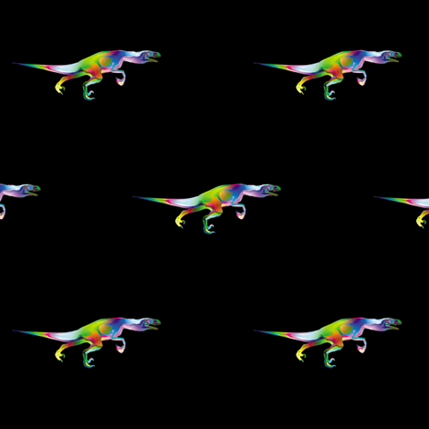 Psychedelic Raptor 2, S fabric by animotaxis on Spoonflower - custom fabric