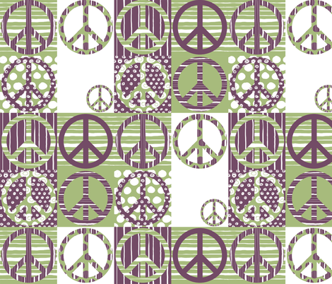 Peace fabric by 7oaks-design on Spoonflower - custom fabric