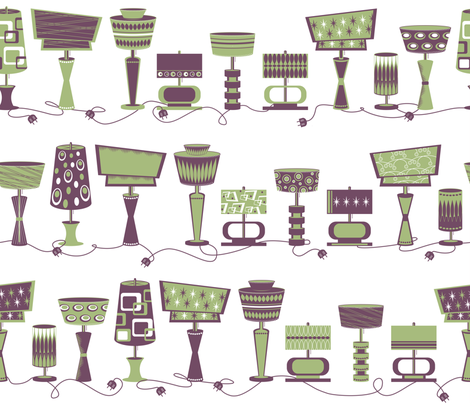 Retro-luxe Lighting fabric by retrorudolphs on Spoonflower - custom fabric