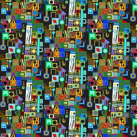Tiny Geometry Jumble fabric by boris_thumbkin on Spoonflower - custom fabric