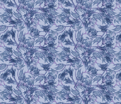 Crinoids - Blue fabric by glimmericks on Spoonflower - custom fabric