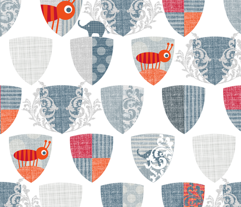 Armorial Ant fabric by spellstone on Spoonflower - custom fabric