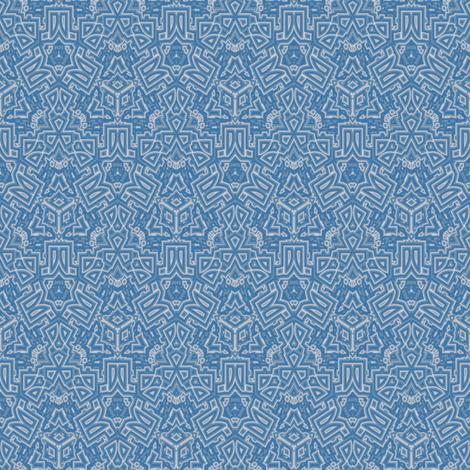 Ornate Blue Gray Geometric © Gingezel™ 2012 fabric by gingezel on Spoonflower - custom fabric